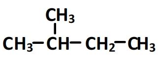 Formule semi-développée du 2-methylbutane