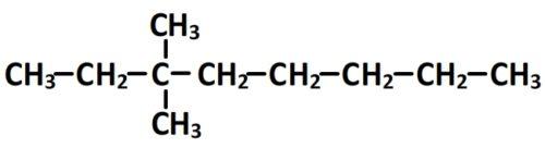 3,3-dimethyloctane formule semi-développée