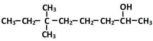 formule semi-développée du 6,6-diméthyloctan-2-ol