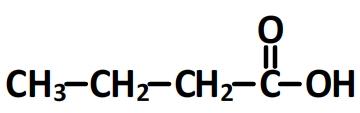 acide butanoïque - formule semi-développée