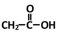 acide éthanoïque - formule semi-éveloppée