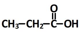 Acide propanoïque, formule semi-développée