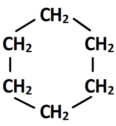 Formule semi-développée du cyclohexane