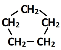 cyclopentane - formule semi-développée