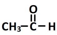éthanal - formule semi-développée