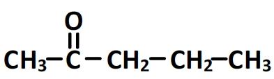 pentan-2-one - formule semi-développée