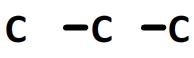 chaîne principale du propan-1-ol